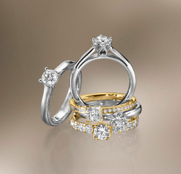 Various engagement rings from acredo